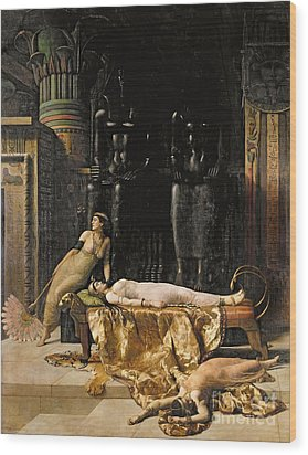 The Death Of Cleopatra  Wood Print by John Collier
