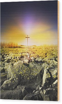 The Death Spot Of St. Cuthbert On Holy Wood Print by John Short