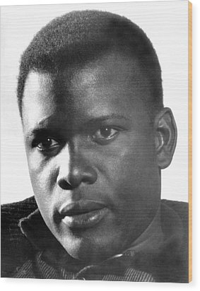The Defiant Ones, Sidney Poitier, 1958 Wood Print by Everett