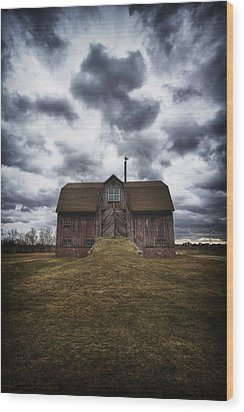 The Devil In Me Said Go Down To The Shed.... Wood Print by Russell Styles