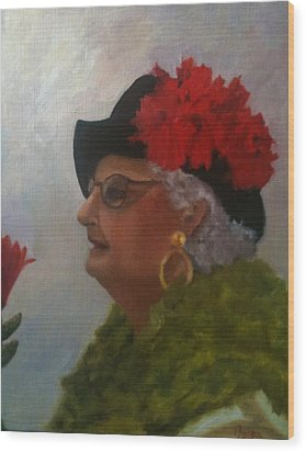 The Diva Wood Print by Betty Pimm