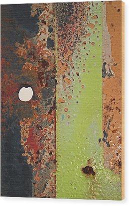 The Dividing Line Wood Print by Camera Rustica Bill Kerr