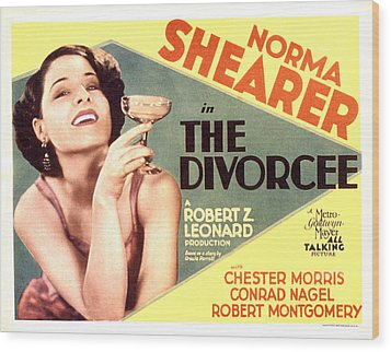 The Divorcee, Norma Shearer, 1930 Wood Print by Everett