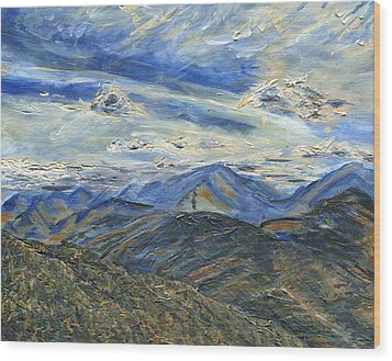 The Dix Range From Giant Peak Wood Print by Denny Morreale