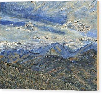 The Dix Range From Giant Peak Wood Print