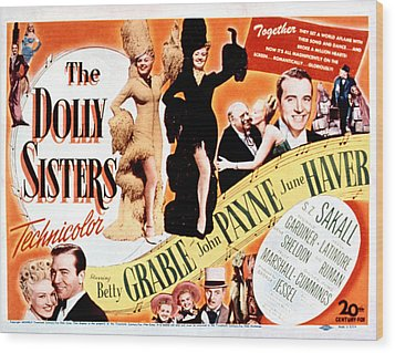 The Dolly Sisters, Betty Grable, June Wood Print by Everett