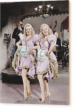 The Dolly Sisters, From Left Betty Wood Print by Everett