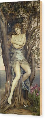 The Dryad Wood Print by Evelyn De Morgan