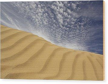 The Dunes Wood Print by Mike McGlothlen