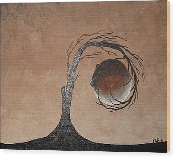 Wood Print featuring the painting The Earth Element by Edwin Alverio