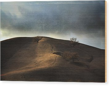 The Earth Moved When You Loved Me Wood Print by Laurie Search