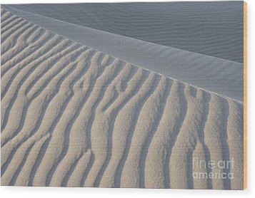 The Edge Of Sand Wood Print by Ron Hoggard