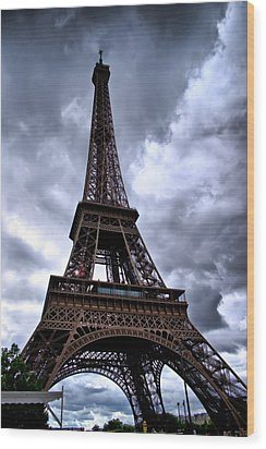 The Eiffel Tower Wood Print by Edward Myers