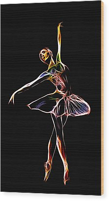 The  Electric Diva Wood Print by Steve K