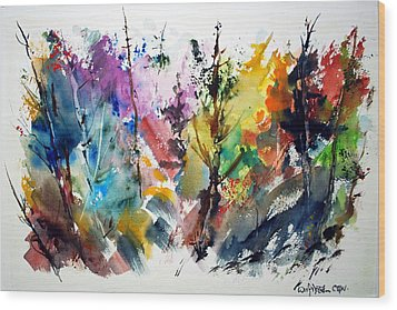 The Enchanted Forest Wood Print by Wilfred McOstrich
