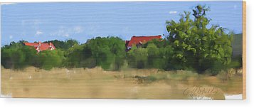 The Eschweiler Buildings Wood Print by Geoff Strehlow