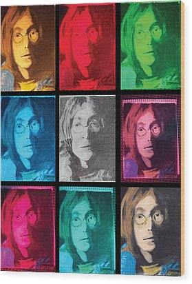 The Essence Of Light- John Lennon Wood Print by Jimi Bush