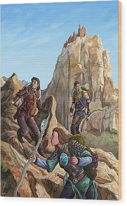 The Explorers Color Wood Print by Storn Cook
