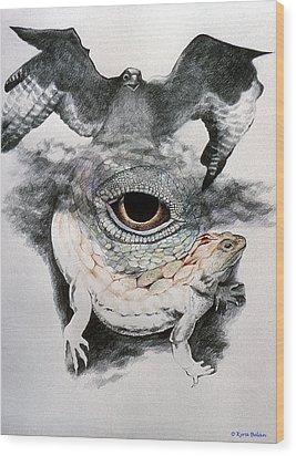 The Eye Of Power Wood Print by Kyra Belan