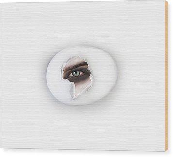 The Eye Wood Print by Yosi Cupano