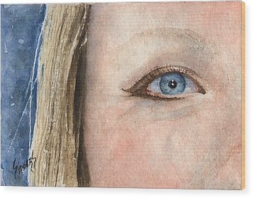 The Eyes Have It - Shannon Wood Print by Sam Sidders