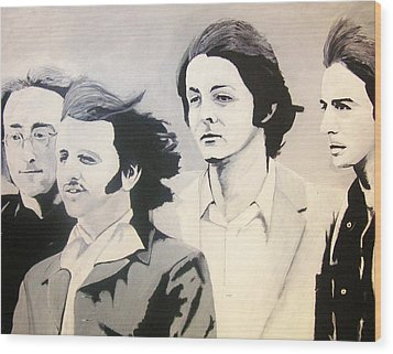 The Fab Four Wood Print