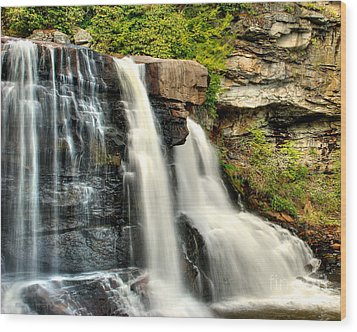 Wood Print featuring the photograph The Face Of The Falls by Mark Dodd