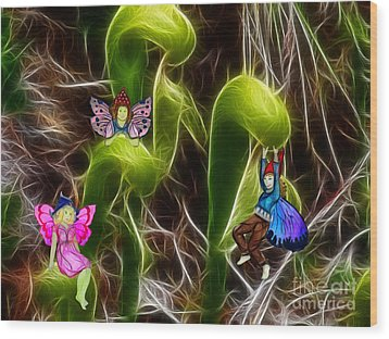 The Fairy's Playground Wood Print by Methune Hively
