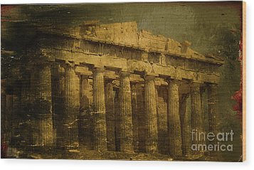 The Fall Of Athens Wood Print by Lee Dos Santos