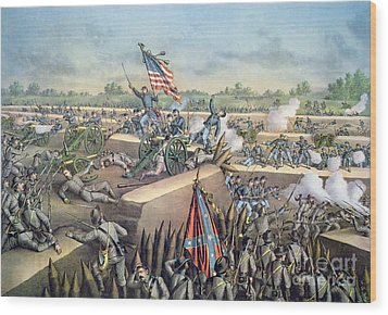 The Fall Of Petersburg To The Union Army 2nd April 1965 Wood Print by American School