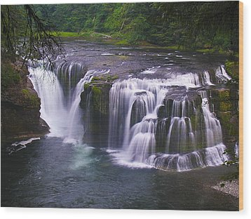 Wood Print featuring the photograph The Falls by David Gleeson