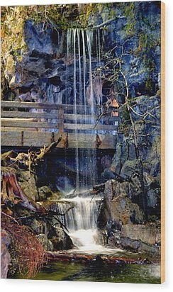 Wood Print featuring the photograph The Falls by Deena Stoddard