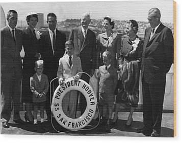 The Family Of Former President Herbert Wood Print by Everett