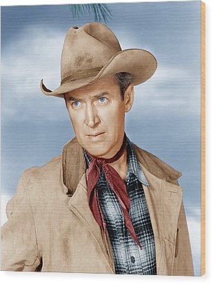 The Far Country, James Stewart, 1954 Wood Print by Everett