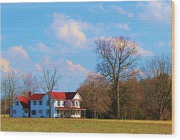 Wood Print featuring the photograph The Farm by Bob Whitt