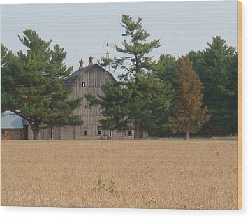 Wood Print featuring the photograph The Farm by Bonfire Photography