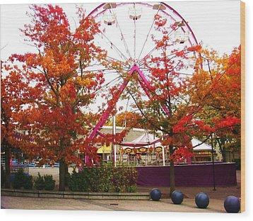 The Ferris Wheel Wood Print by James Mancini Heath