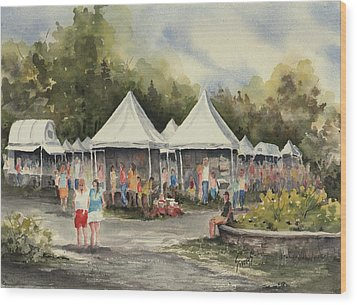 The Festival Wood Print by Sam Sidders