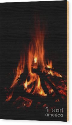 The Fire Wood Print by Donna Greene