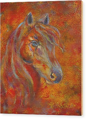 The Fire Of Passion Wood Print by The Art With A Heart By Charlotte Phillips