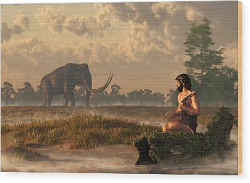 The First American Wildlife Artist Wood Print by Daniel Eskridge