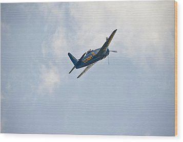 The First Blue Angel Wood Print
