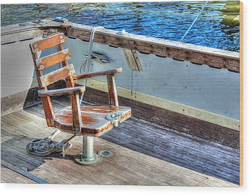 The Fishing Chair Wood Print