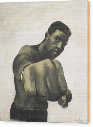 The Fist Wood Print by L Cooper