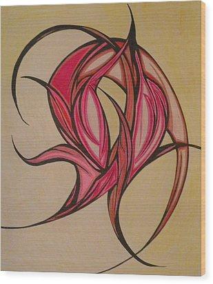 The Flip Wood Print by Tara Francoise