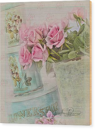 The Flower Shop  Wood Print by Sandra Rossouw