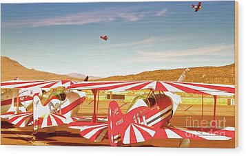 The Flying Circus Reno Air Races Wood Print