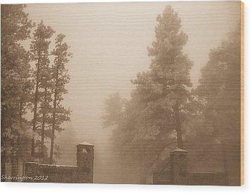 Wood Print featuring the photograph The Fog by Shannon Harrington