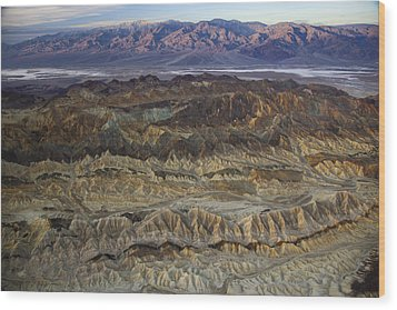 The Foothills Of Amargosa Canyon Wood Print by Michael Melford