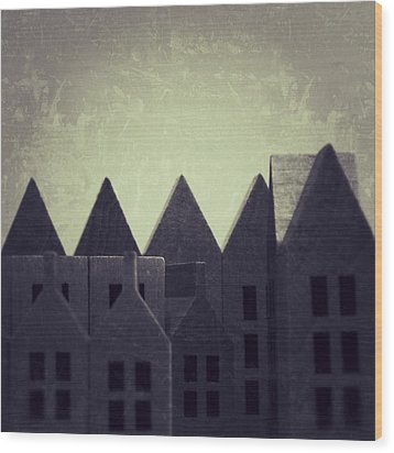 The Forgotten Town - 35 Wood Print by Mirko Lamonaca